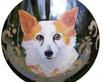 Papillon Dog Wine Glass ~  Ready to Ship ~ Hand Painted Wine Glass ~ Dog Wine Glass ~ Birthday Gift