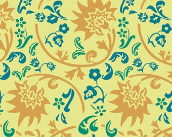 Tibet Blockprint Amber  (RHA-507) - RHAPSODIA -  Pat Bravo for Art Gallery Fabrics - By the Yard