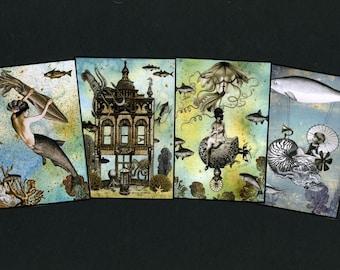 Steampunk Deep Sea Follies - Art Card Special