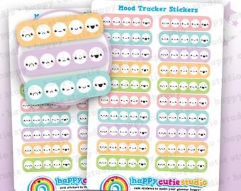 20 Cute Mood Tracker Planner Stickers, Filofax, Happy Planner, Erin Condren, Kawaii, Cute Sticker, UK