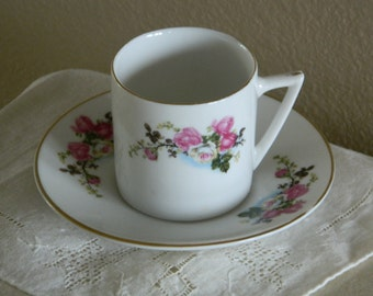 Vintage Espresso Coffee Cup and Saucer