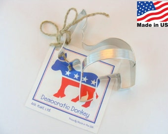 Democratic Donkey Metal Cookie Cutter by Ann Clark