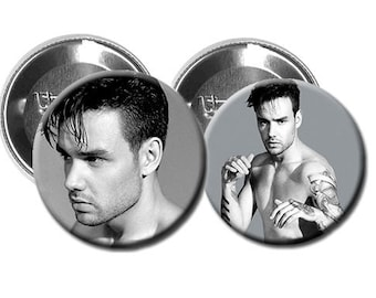 """LIAM PAYNE  - Pinback Button/Badge Pack (1.25"""") - Magazine Shoot 2017 / One Direction"""