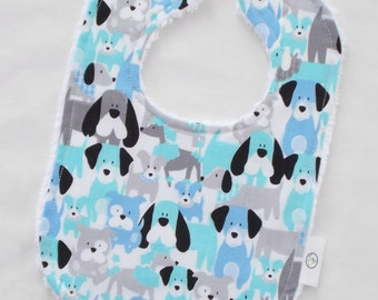 Sweet Dogs Chenille Boutique Bib - SALE