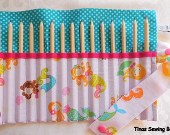 pencil roll with little mermaids