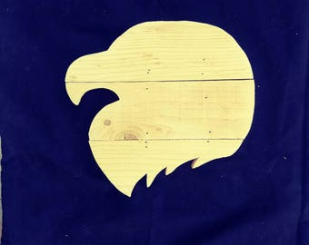 Eagle head blank wood pallet sign.  Wholesale available great blank for sports themes./blank pallet sign/sign supplies