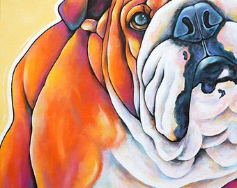 Custom CloseUp  Pet Portraits 12x12 Original Canvas Art Painted from your photographs Dog Art Pet Art