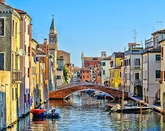 Italy - Chioggia - View from the bridge Cuccagna - SKU 0104