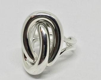 Silver Modernist ring