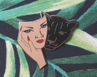 The Gemini Masked Panther Enamel Pin