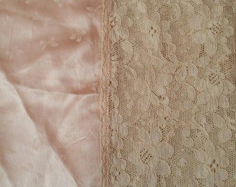Vintage Satin and Lace Bedcover