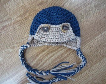 0-3 Month Crochet Eskimo Hat- Ready to Ship