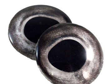 Glass Fish Eyes - 30mm - Fish Eyes - Silver