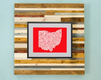 Ohio County Map - Hand Drawing