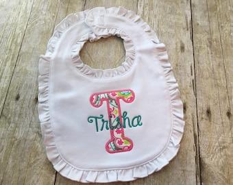 Baby bibs - Baby bibs personalized - Baby girl gift - Baby girl bib - Infant bibs - Personalized baby girl gift- Newborn girl gift