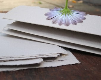 Stationery set, Letter writing paper, Handmade Recycled paper sheets, Handmade paper envelopes, Eco stationery, Note paper, Natural paper