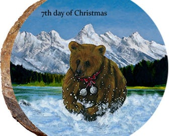 7th Day of Christmas Bear - DX231