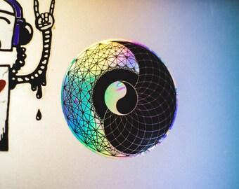 Divine Yin Yang: Rainbow Holographic