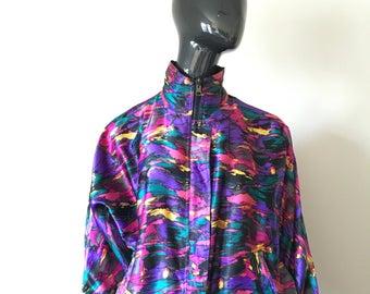 Vintage 90's Reversible Bomber/Track Jacket