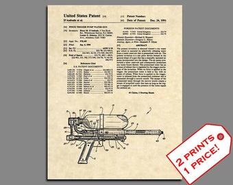 Patent Prints - Super Soaker Patent Art - Vintage Classic Toy Print Patent Print - Toy Poster Art - Classic Toy Art Patent Poster  - 351