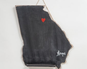 Chalkboard State, College Dorm Door Hanger, All states available