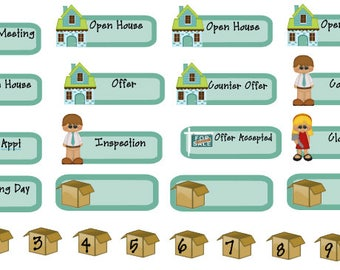 real estate planner stickers buying or selling a house