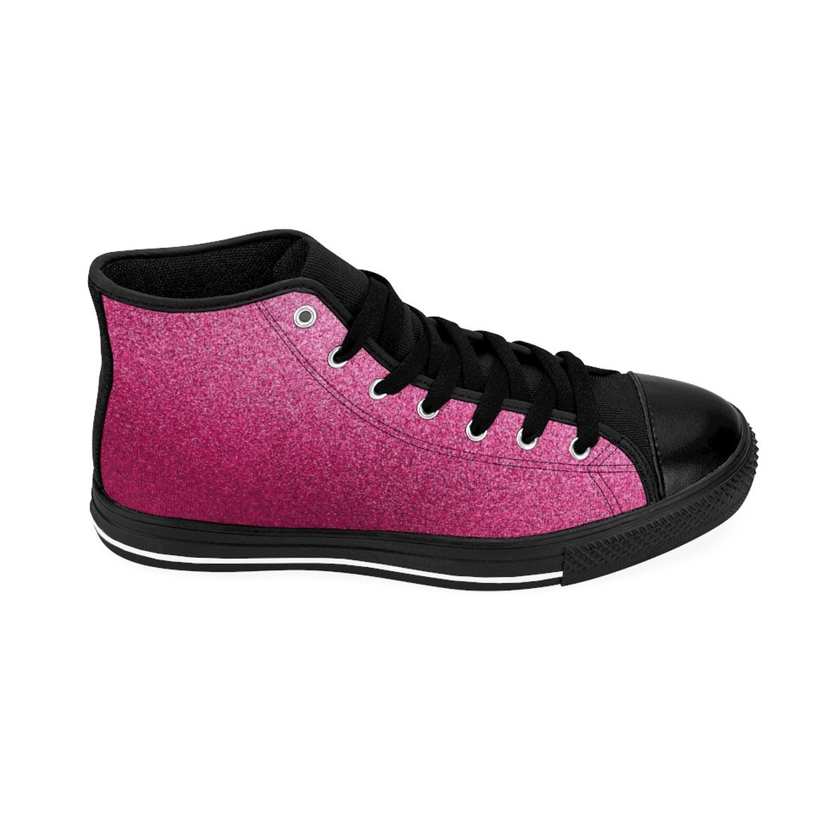 WoHommes S S S Glitter PinkHighTop Sneakers 371781