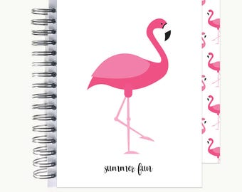 Bullet Journal – Personalized | Spiral | Dot Grid | Notebook | Flamingo