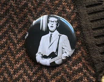 "Buddy Holly 2.25"" Pin (One-Of-A-Kind)"