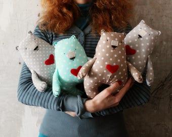 4 colors Baby soft toy primitive safe stuffed bear 9' baby shower gift nursery decor teddy bear
