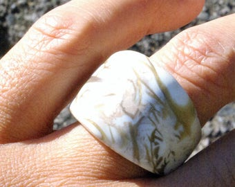 Ring entirely from polymer clay