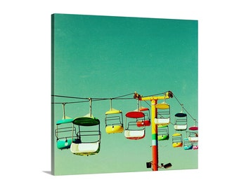canvas art // art on canvas // bright summer art photography - Summer of 67,  large ready-to-hang canvas art