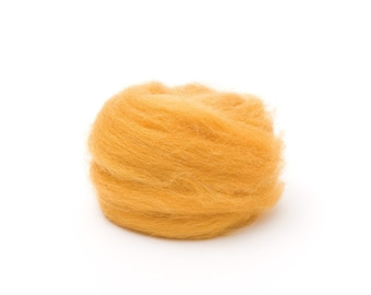 Butterscotch Wool Roving for Felting - 1 oz. Corriedale