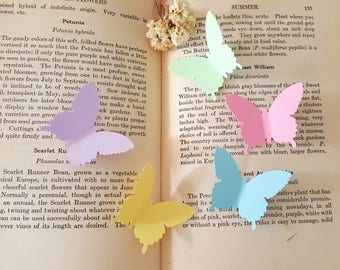 Butterfly die cuts,Pastel colors Butterfly Cut outs,Lavender Butterfly Cut outs,Wedding Decor,Paper butterflies,Spring decorations