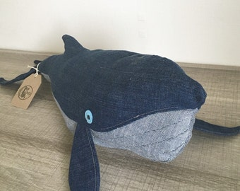 Denim Jeans Whale - Jeans Whale - Whale Soft Toy - Peluche Ballena - Baby Soft Toy - Kids Soft Toy - Animales Marinos - Sea Toy - Water