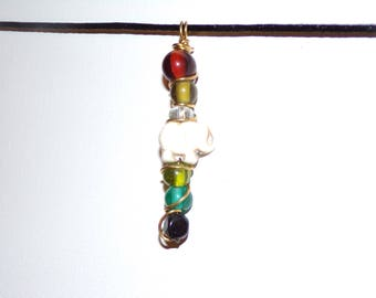 Elephant Chakra necklace