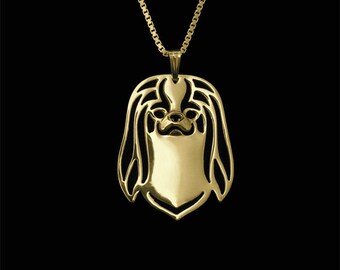 Japanese Chin jewelry - Gold pendant and necklace