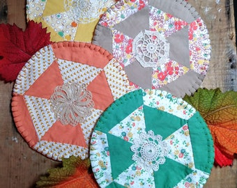 Coasters, Fabric Coasters, Quilted Coasters