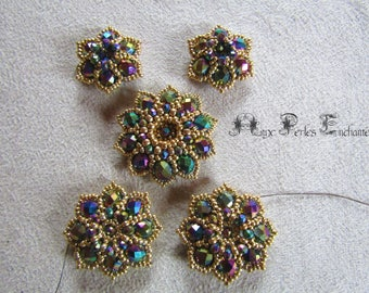 Beading pattern tutorial, beading instructions, beaded Flowers tutorial beading tutorial flowers, beads, beads tutorial