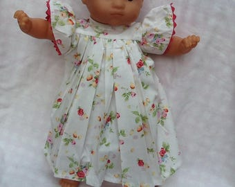 white dress with flowers for dolls, ref 15