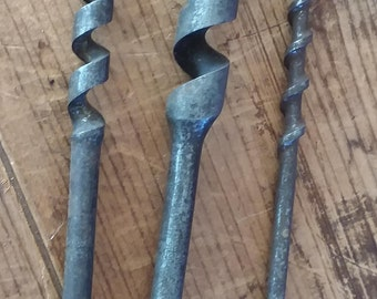 Vintage Set of 3 Brace Drill Bits