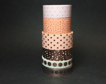 Polka Dots Washi Tape Sample #2, Foil Washi Tape Sample