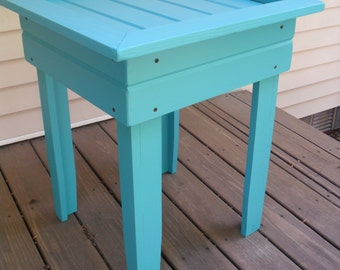 Robin Egg Blue End Table