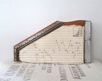 Vintage Bontempi Italy Wood Harp Instrument