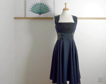 Size L/XL - Swing Dress in Midnight Blue