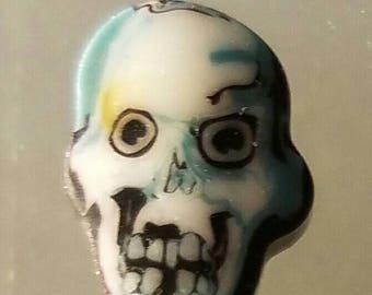 Glass murrini Coe 104 skull
