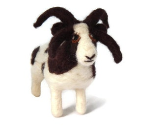 Custom Needle felted miniature Jacobs Sheep  Soft Sculpture - handcrafted sheep figurine - Farm Decor, Country Decor, Sheep lover