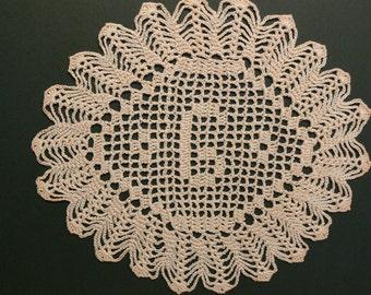"""Custom Handmade Crocheted Initial Doily """"G"""""""