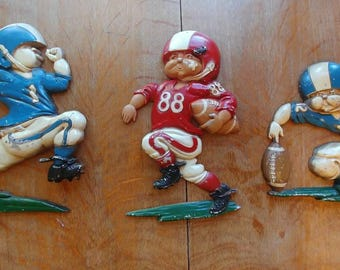 Homco metal sports figures set of 3, 1976