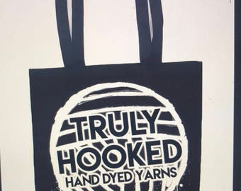 Truly Hooked tote bag